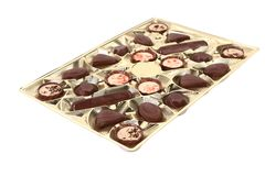 Box of chocolates candies. Royalty Free Stock Image