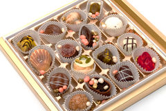 Box with Chocolates Candy Royalty Free Stock Photo