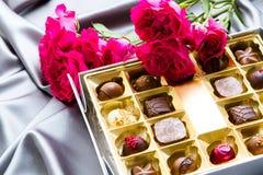 Box of chocolates Stock Photos