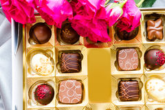 Box of chocolates Stock Images