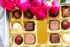 Box of chocolates Stock Images