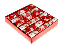 Box of Christmas Crackers Stock Image