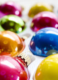 Box of Christmas Ornaments Royalty Free Stock Photo
