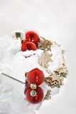 Box of Christmas Ornaments Royalty Free Stock Photography