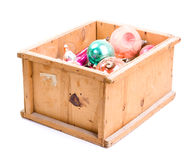 Box with christmas toys Royalty Free Stock Photography