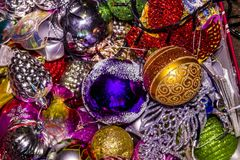 Box with Christmas toys Royalty Free Stock Image