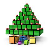 Box - Christmas Tree Stock Images