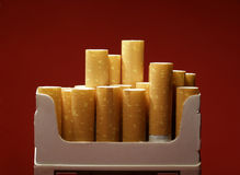 Box with cigarettes Royalty Free Stock Photography