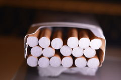 Box of cigarettes Royalty Free Stock Images