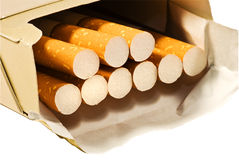 Box of cigarettes Stock Photography