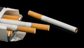 Box of cigarettes close up Royalty Free Stock Photo