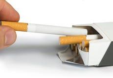 Box of cigarettes close up Stock Photos