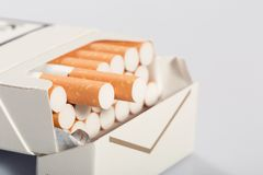Box of cigarettes Royalty Free Stock Image