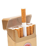 Box of cigarettes Stock Image