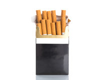 Box of cigarettes isolated Royalty Free Stock Photos