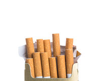 Box of cigarettes isolated Stock Image