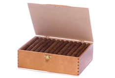 Box of cigars cutout Stock Photos
