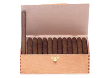 Box of cigars Royalty Free Stock Images