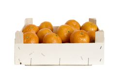 Box with Clementines Royalty Free Stock Photography
