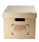 Box with closed cover Stock Image