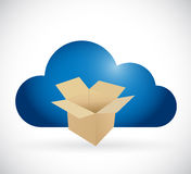 Box and cloud storage concept illustration Stock Photos