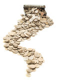Box with coins Royalty Free Stock Image