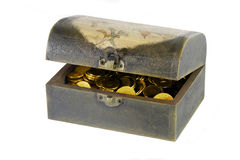 Box with coins Stock Image