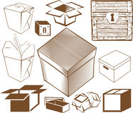 Box Collection Stock Images