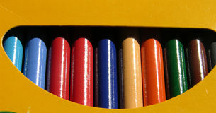 Box of color. Ed pencils Stock Image