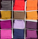 Box of colored clothing Royalty Free Stock Photo
