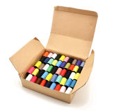 Box with colored sewing threads Royalty Free Stock Image