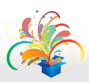 Box with colorful elements Stock Photos