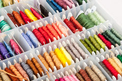 Box of Colorful Embroidery Thread Stock Photography