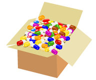 Box of colorful medicine Royalty Free Stock Images