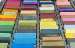 Box of colorful pastel sticks Royalty Free Stock Photos