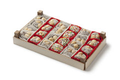 Box with colorful Turkish cookies Royalty Free Stock Photo