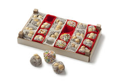 Box with colorful Turkish cookies Stock Photography