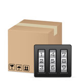 Box and combination lock Royalty Free Stock Images
