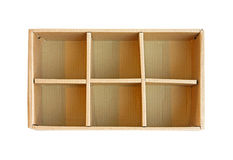 Box compartments Royalty Free Stock Photography