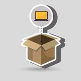 Box computer laptop. Illustration eps 10 Stock Photo