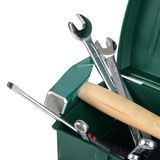 Box with construction tools isolated Royalty Free Stock Photography