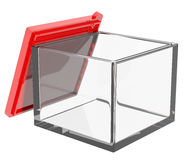 Box container open lid Stock Images