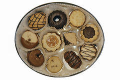Box of cookies Royalty Free Stock Images