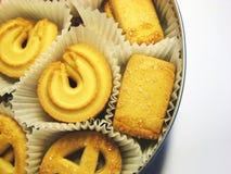 Box of cookies 7. Metal box of cookies in paper bags royalty free stock image