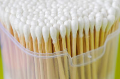 A box of cotton-swabs Royalty Free Stock Image