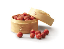 Box with cranberries Royalty Free Stock Photography