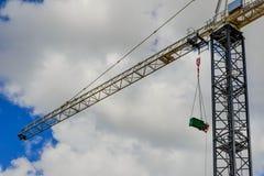 Box crane. Against a cloudy sky Stock Image