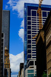 Box crane in downtown houston. Against a cloudy sky Royalty Free Stock Images