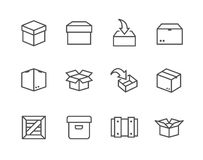 Box and crates icons Stock Photography