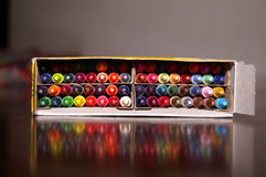 Box of Crayons Royalty Free Stock Photography